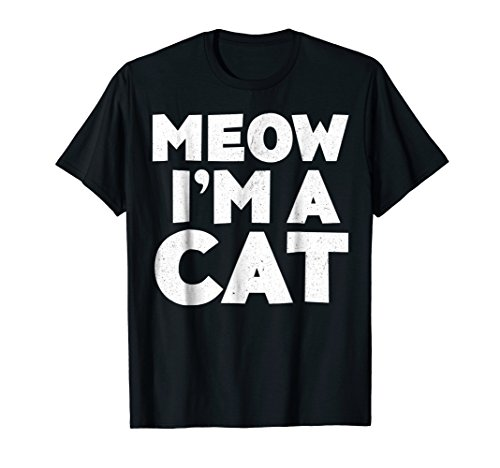 Meow I'm A Cat T-Shirt Halloween Costume Shirt