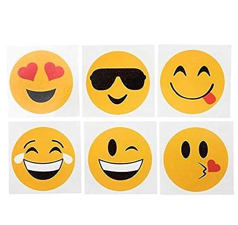 Amazon.com: Tatuajes Temporales Rinco Emoji (144piezas ...