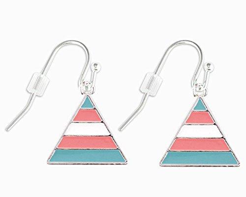 (Triangle Transgender Hanging Earrings (1 Pair of Earrings - Retail))