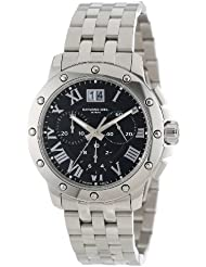 Raymond Weil Mens 4899-ST-00208 Tango Stainless Steel Black Chronograph Watch