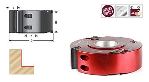 Amana Tool 61462 Insert Carbide Aluminum Rabbet 100mm D x 50mm CH x 1-1/4 Bore Shaper Cutter