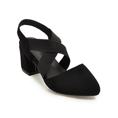 sandali di alti dei sandali tacchi black sandali e violento i donne con e moda sandali 39 le sharp tqf8gR