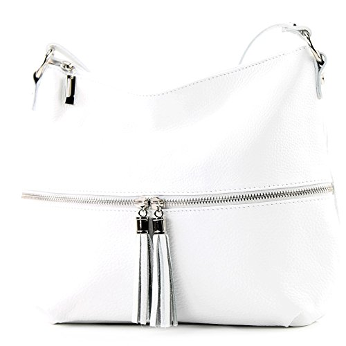 modamoda de - ital. Leather bag Leather bag Shoulder bag Leather T159 White