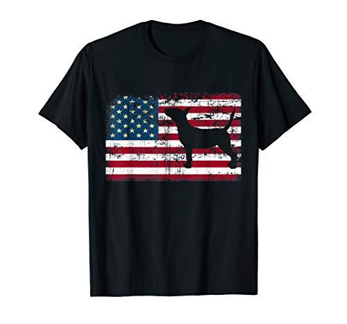 Bull Terrier T-Shirt American Flag USA Patriotic Dog - Terrier Bull T-shirt Black
