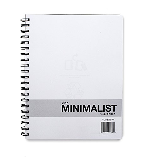 Action Publishing 2017 Large Minimalist Planner (8.5 x 11 inches) - 12 Monthly Calendar Overview, To-do Lists, Weekly and Daily Planning