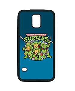 TEENAGE MUTANT NINJA TURTLES TMNT ~ Fashion Durable Unique RUBBER Durable Case Cover Skin for Samsung Galaxy S5 i9600 - Black Silicone Case / ABCone Tpu Protective S5 Case