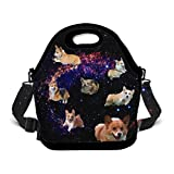 OKAYDECOR Lunch Bag Tote Bag Lunch Organizer Lunch Holder Lunch Container (Cute Corgi Running)