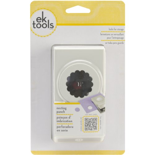 EK Tools Circle Punch, 1.25-Inch Scalloped Edge, New Package ()