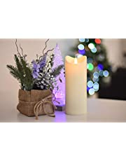 Flamelike Candles - Flameless Incredibly Realistic Non Wax LED Moving Wick Flame Candle with Timer. Battery Operated. Unscented. Best Flickering Action. Great Gift Idea