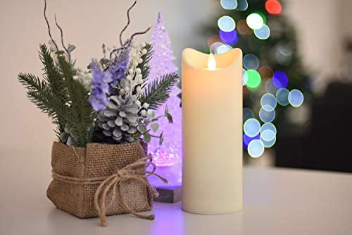 Flamelike Candles – Flameless Incredibly Realistic Non Wax LED Moving Wick Flame Candle with Timer. Battery Operated. Unscented. Best Flickering Action. Great Gift Idea Flamelike Candles 3.5 x 9