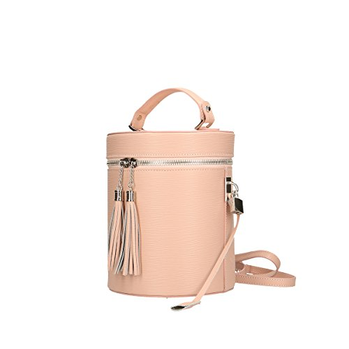 Chicca Borse Piel genuina hombro bolso 20x24x20 Cm rosado
