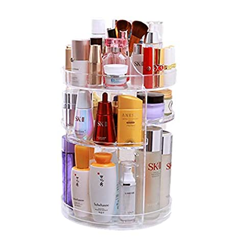 RGTOPONE Thicker Makeup Organizer 360 Degree Rotating Adjustable Costemics Storage Reinforced and Durable Design with Large Capacity, Multifunctional for Vanity, Bathroom, Bedroom, Closet, Kitchen, Office