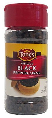 Tone's Whole Black Peppercorns, 2.13 oz. (2 pack)