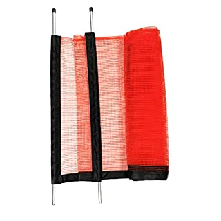 Play It Safe Driveway Net, Orange – Customizable and Removable Safety Netting, Fits Driveways up to 25' Wide, Kid Safe Barrier Net with Bright Orange Color for High Visibility