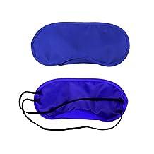 Doober 2x Travel Sleep Rest Sleeping Aid Mask Eye Shade Cover Comfort Blindfold (Royal Blue)