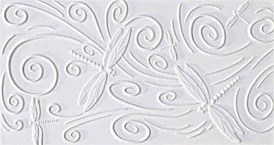 Slumping Molds - Dragonfly Texture Tile Mold for Glass Slumping