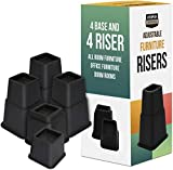 Utopia Bedding Adjustable Bed Furniture Risers Pack