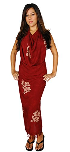World Color Femmes Of Hibiscus Choice Swimsuit In Bordeaux 1 Your Sarongs Flower Sarong dUqdPF