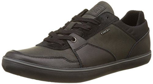 Geox Men's Box 28 Sneaker, Black, 40 M EU (7 US)