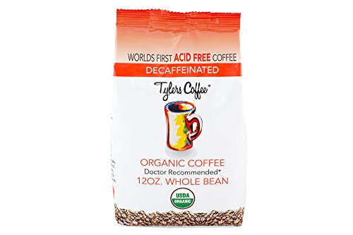 Tylers Acid Free Organic Coffee 12oz Bag - Decaffeinated Whole Bean