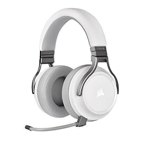 CORSAIR VIRTUOSO RGB WIRELESS High-Fidelity Gaming Headset, White, CA-9011186-NA