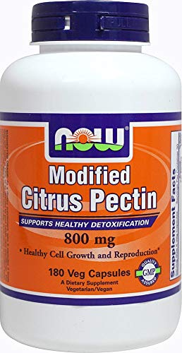 NOW Foods Modified Citrus Pectin 800 mg-180 Vegetable Capsules (Citrus Pectin Modified)