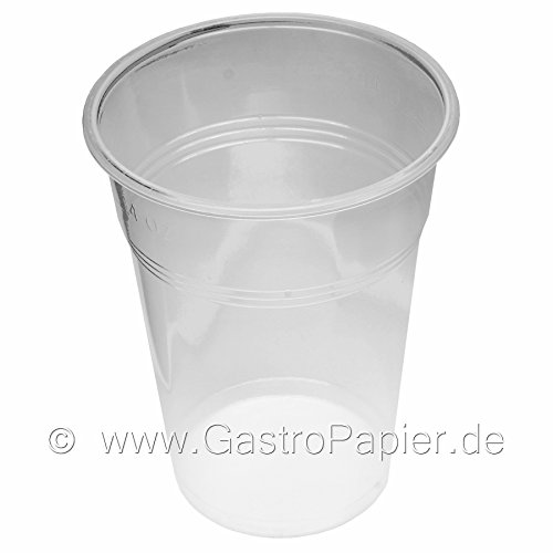 50 Party Bierbecher Einwegbecher transparent 0,5l