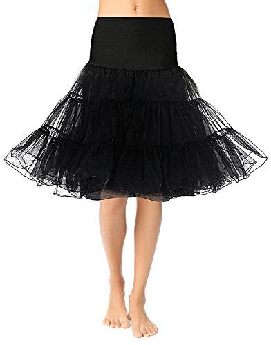 SUJAN Vintage Women's 50s Rockabilly Tutu Skirt 26