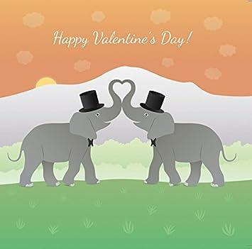 gay elephant couple gay valentines card same sex valentines card gay valentines gifts