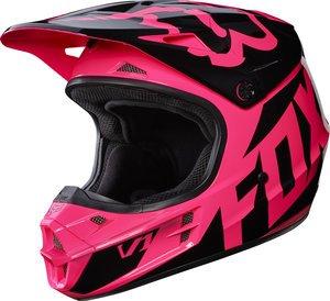 Fox-Racing-Adult-V1-2017-Motocross-Dirt-Bike-Helmet-Race-Pink-Womens-Medium