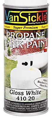 VAN SICKLE PAINT 41020 White Propane Paint, 12 (Propane Tank Paint)