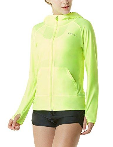 TSLA Women's UPF 50+ Full & Half Zip Front Long Sleeve Top Rashguard Swimsuit FSZ02 / FSZ04
