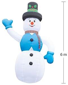Infactory–incluso aufbla emisor Muñeco de nieve, 6m