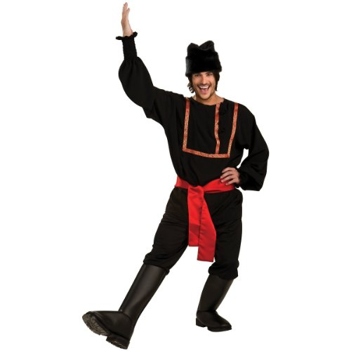 Rubie's Men's Black Russian Costume, As Shown, (Russian Traditional Costumes +)
