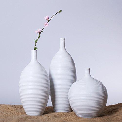White Chinese Vases - 9
