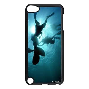 iPod Touch 5 Case Black Under Water Looai