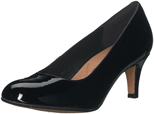 CLARKS Damen Heavenly Heart Dress Pump Schwarzes Lackleder