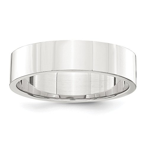 925 Sterling Silver 5mm Flat Wedding Ring Band Size 8.00 Classic Fine Jewelry Gifts For Women For Her