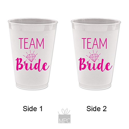 Bachelorette Frost Flex Plastic Cups - Team Bride