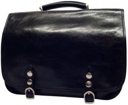 Alberto Bellucci Mens Italian Leather Comano Double Compartment Messenger Satchel Bag in Black by Alberto Bellucci (Image #5)