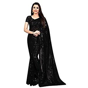Florely Women's Pure Georgette sequence saree with unstiched blouse piece(Free size) 7 41YNqb2cbcL. SS300