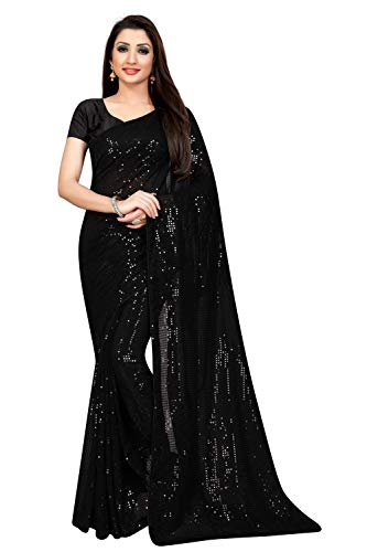 Florely Women's Pure Georgette Saree With blouse piece 1 41YNqb2cbcL