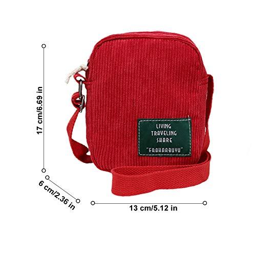 Rouge Mode Main Jeunesse couleur Épaule En Multi Street Souple Charma Est Gtfjsdfvf De Simple Sac Sacs Toile S À L'adolescence Casual Tissu F41BnX