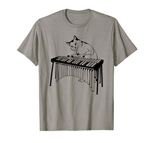 - Vintage Silly Weird Cat Playing Xylophone Cat Lover Gift