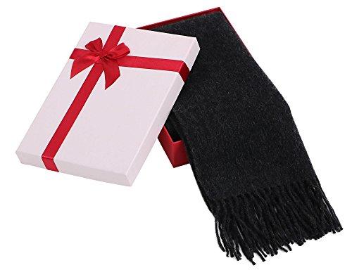 Super Soft Cashmere Winter Scarf Gift Box Set, Black