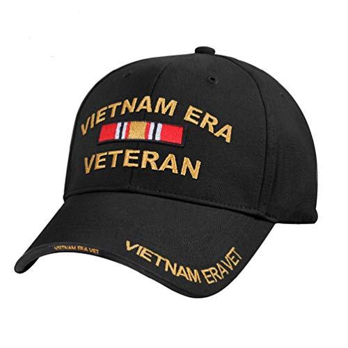 Black Military Army Combat Medal Ribbon Vietnam Era Vet Veteran Baseball Cap Hat