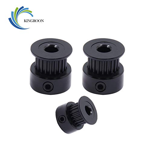5PCS/Lot New 16 Tooth 20 Tooth GT2 Timing Pulleys for 3D Printer Part Bore 5mm 8mm Width 6mm Aluminium Gear Teeth Wheel - (Size: 20T W6 B8 with T): Amazon.com: Industrial & Scientific