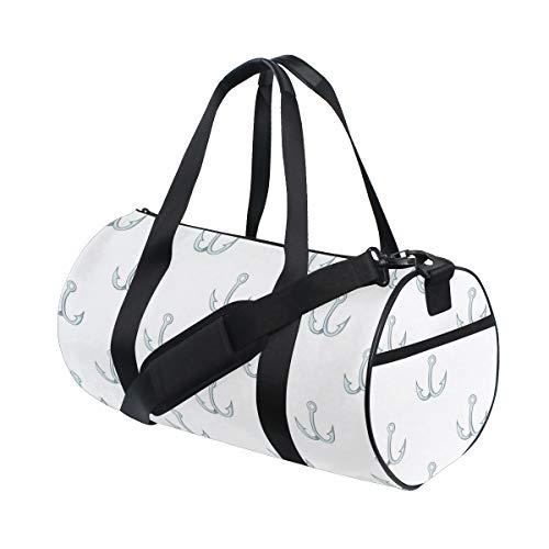 Gym Bags Useful Fish Hook Fishing Tool Fitness Coach Comfortable Weekend Duffel Bags For Girl Dancer Workout Bag Picnic Work Badminton Dufflebag