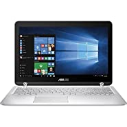 ASUS High Performance Premium 15.6-Inch 2-in-1 Touchscreen Full HD Laptop, (Intel Core i5-6200U, 12GB RAM, 1TB HDD, Backlit Keyboard, WIFI, HDMI, Bluetooth, Windows 10) Silver