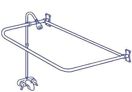 Clawfoot Tub Add On Shower Rx2300a Includes 54 D Shower Rod
